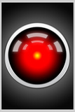 Hal 9000 Camera Eye Screen Movie Plastic Sign Plastic Sign