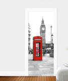 Calling From Big Ben Door Wallpaper Mural Wallpaper Mural