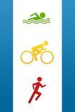 Triathlon Sports Plastic Sign Wandbord