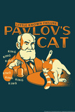 Pavlov's Cat Snorg Tees Plastic Sign Plastic Sign by  Snorg