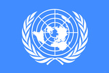 United Nations Flag Plastic Sign Plastic Sign