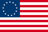 American Colonial National Flag Plastic Sign Wall Sign
