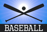 Baseball Blue Sports Plastic Sign Plastic Sign