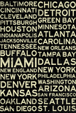 National Football League Cities Vintage Style Plastic Sign Plastic Sign