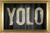 YOLO Bling Faux Frame Plastic Sign Plastic Sign