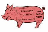 Tasty Pig Snorg Tees Plastic Sign Signe en plastique rigide par  Snorg