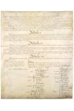 U.S. Constitution Page 4 Plastic Sign - Plastik Tabelalar