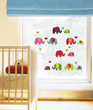 Lovely Elephant Stickers pour fenêtres