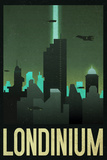 Londinium Retro Travel Plastic Sign Wall Sign