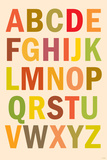 Alphabet (List) Plastic Sign Wall Sign
