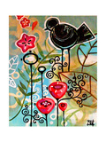 Blossoms and Blackbirds Print by Natasha Wescoat