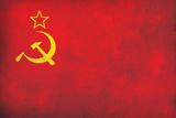 Soviet Flag Distressed Plastic Sign Plastic Sign