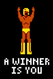 A Winner Is You Video Game Plastic Sign Plastskilt