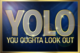 YOLO You Oughta Look Out Plastic Sign Plastic Sign