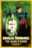 The Mark of Zorro Movie Douglas Fairbanks Plastic Sign Plastic Sign