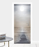 Step into the Moonlight Door Wallpaper Mural Veggoverføringsbilde