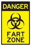 Danger Fart Zone Humor Sign Poster Prints