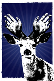 Texas Rangers Antlers Sports Plastic Sign Plastic Sign