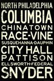 Philadelphia Broad Street Line Stations RetroMetro Poster Photo