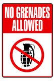 Jersey Shore No Grenades Allowed TV Plastic Sign Plastic Sign