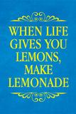 When Life Gives You Lemons Make Lemonade Plastic Sign Wall Sign