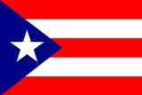 Puerto Rico National Flag Plastic Sign Znaki plastikowe
