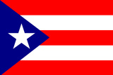 Puerto Rico National Flag Plastic Sign Cartel de plástico