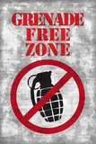 Jersey Shore Grenade Free Zone Gray TV Plastic Sign Plastic Sign