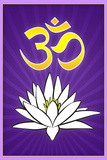 Lotus Meditation AUM Plastic Sign Plastic Sign