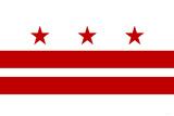 Washington DC Flag Plastic Sign Znaki plastikowe