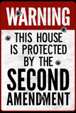 This House Protected By the Second Amendment Plastic Sign Wall Sign