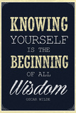 Knowing Yourself is the Beginning of All Wisdom Plastic Sign Plastic Sign