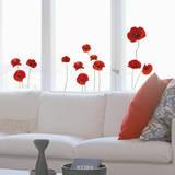 Poppies Family - Pencere Çıkartmaları