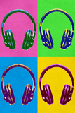 Music Headphones Pop Plastic Sign Plastic Sign