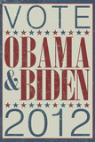 Vote Obama & Biden 2012 Political Plastic Sign Plastic Sign
