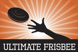 Ultimate Frisbee Orange Sports Plastic Sign Plastic Sign