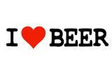 I Heart Beer College Humor Plastic Sign Plastikskilt