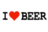 I Heart Beer College Humor Plastic Sign Plastic Sign