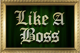 Like A Boss Faux Frame Humor Plastic Sign Wall Sign