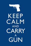 Keep Calm and Carry A Gun Plastic Sign Plastic Sign