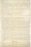 U.S. Constitution Page 2 Plastic Sign Wall Sign