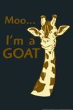 Giraffe Snorg Tees Plastic Sign Plastic Sign by  Snorg