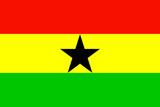 Ghana National Flag Plastic Sign Znaki plastikowe