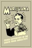 Marijuana Proud Sponsor Of Snack Food Industry Funny Retro Plastic Sign Plastic Sign by  Retrospoofs