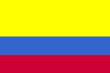 Colombia National Flag Plastic Sign Znaki plastikowe