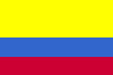 Colombia National Flag Plastic Sign Wall Sign