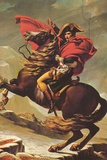 Jacques-Louis David (Napoleon Crossing the Alps) Plastic Sign Plastic Sign by Jacques-Louis David