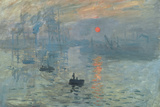 Claude Monet (Impression, Sunrise) Plastic Sign Plastic Sign by Claude Monet