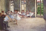 Edgar Germain Hilaire Degas (Ballet rehearsal) Plastic Sign Plastic Sign by Edgar Degas