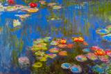 Claude Monet - Claude Monet Waterlillies Plastic Sign - Plastik Tabelalar